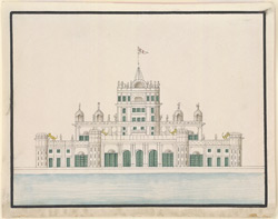 La Martiniere(??), the house of Colonel Martin, at Lucknow